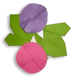 おりがみくらぶで紹介されて ... : 花びら 型紙 : すべての講義